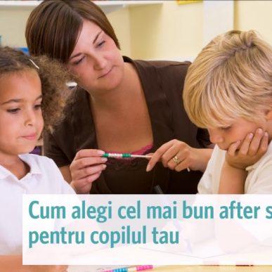 Cum alegi un after school pentru copilul tau?
